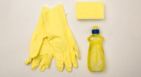 We Rank Yellow Cleaning Supply Flatlay 4460x4460